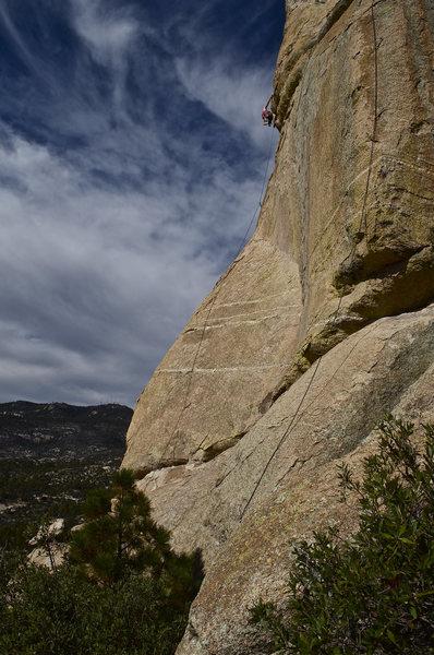 Rock Climbing Photo: Alex on Twelve O'Clock High