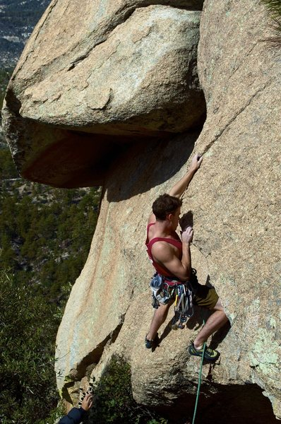 Rock Climbing Photo: first bolt 2 ft above