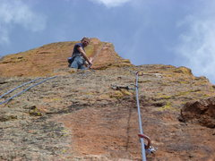 Rock Climbing Photo: At the second belay anchor, 2nd 5.8 section.