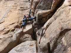 Rock Climbing Photo: Halfway up above the bolts.