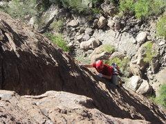 Rock Climbing Photo: Luke on Smokin the Toad