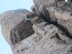 Rock Climbing Photo: Chris Hood crankin hard on Oh My Dog!