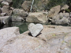 Rock Climbing Photo: a heart in the middle of n. devils canyon