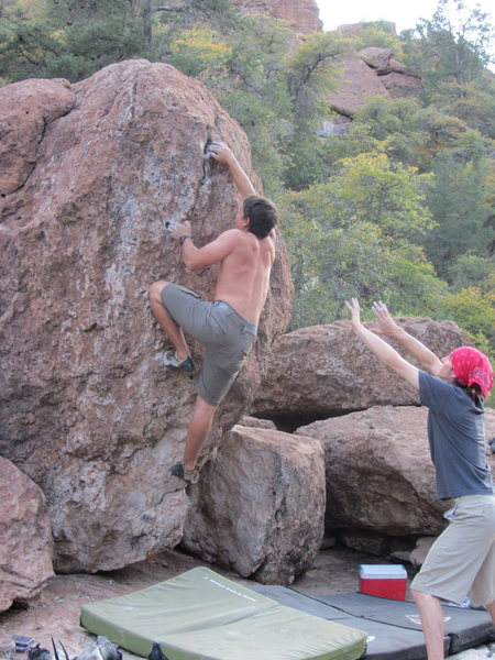 Rock Climbing Photo: creekbed problem