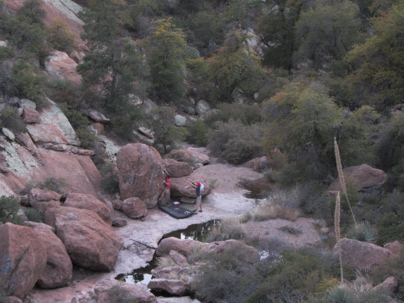 Rock Climbing Photo: bouldering down in the creek bed