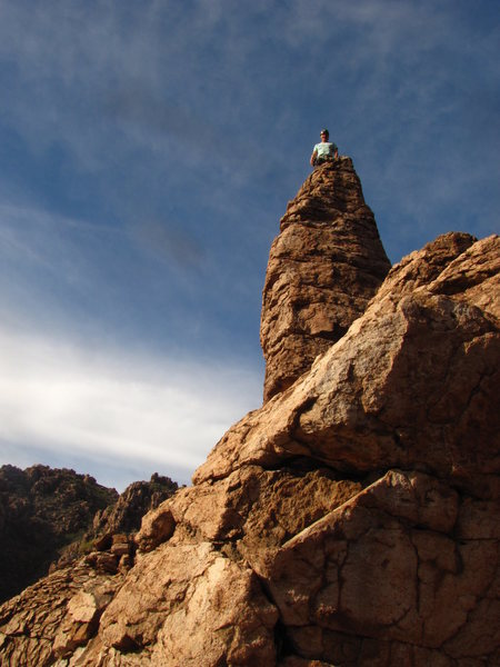 Baggin the summit after climbing Big Ben