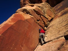 Rock Climbing Photo: J. Miller leading