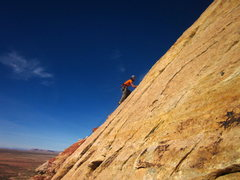 Rock Climbing Photo: R. Downer on lead.