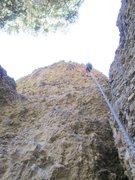 Rock Climbing Photo: Lowering off.