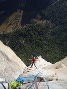 Rock Climbing Photo: Lovin' it on El Capitan