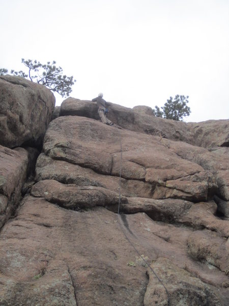 Rock Climbing Photo: Newkirk on lead.