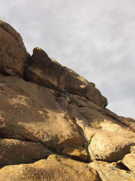 Ross near the steep block.