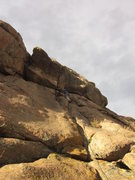 Rock Climbing Photo: Ross near the steep block.