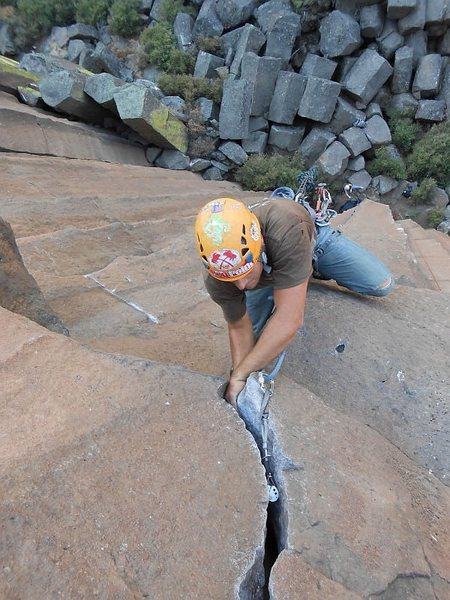 Diggin' for gold at Trout Creek. Some of the best cracks in Oregon!