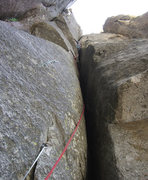 Rock Climbing Photo: Pitch 9  - can be another crux of the route?