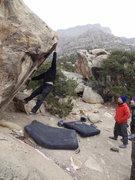 Rock Climbing Photo: Luke Childers trying to stick Pocket Rocket!!  no ...