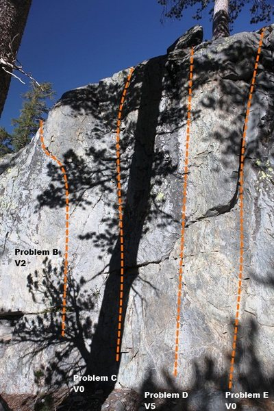 Rock Climbing Photo: Way Warm-up Wall Center Topo