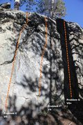 Rock Climbing Photo: Way Warm-up Wall Right Topo