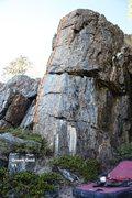 Rock Climbing Photo: Green Gold Topo