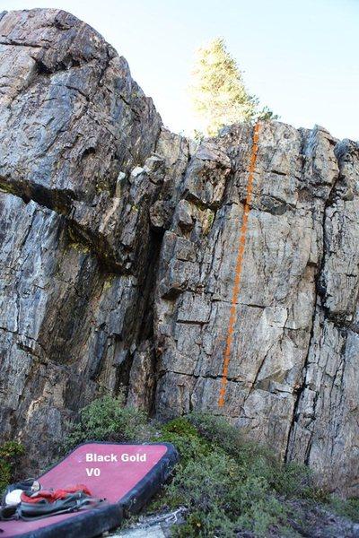 Rock Climbing Photo: Black Gold Topo