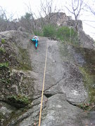 Rock Climbing Photo: Joshua Corbett on TR, just about to start the crux...
