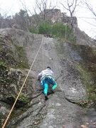 Rock Climbing Photo: Joshua takes a run on TR.  Welton's Corner climbs ...