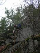 Rock Climbing Photo: Loran Smith low down on the route.  Joshua Corbett...