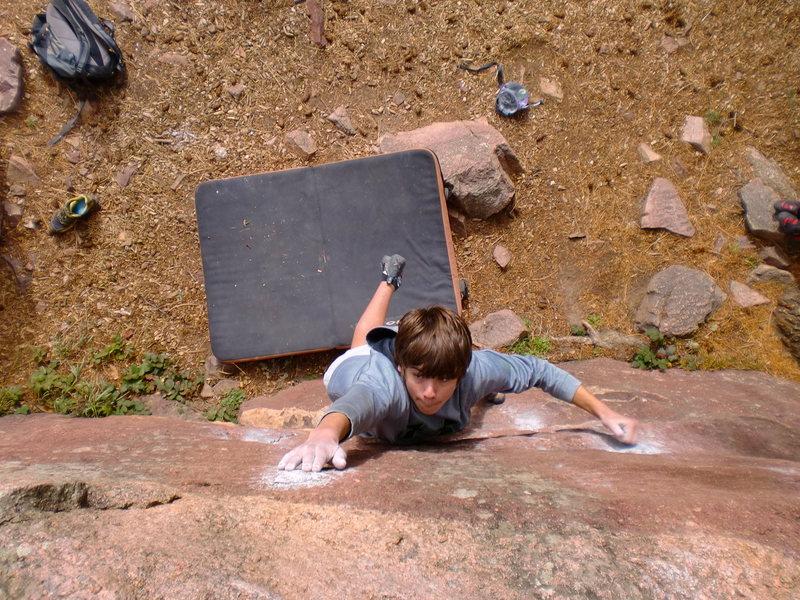 Rock Climbing Photo: Daniel trying really hard.