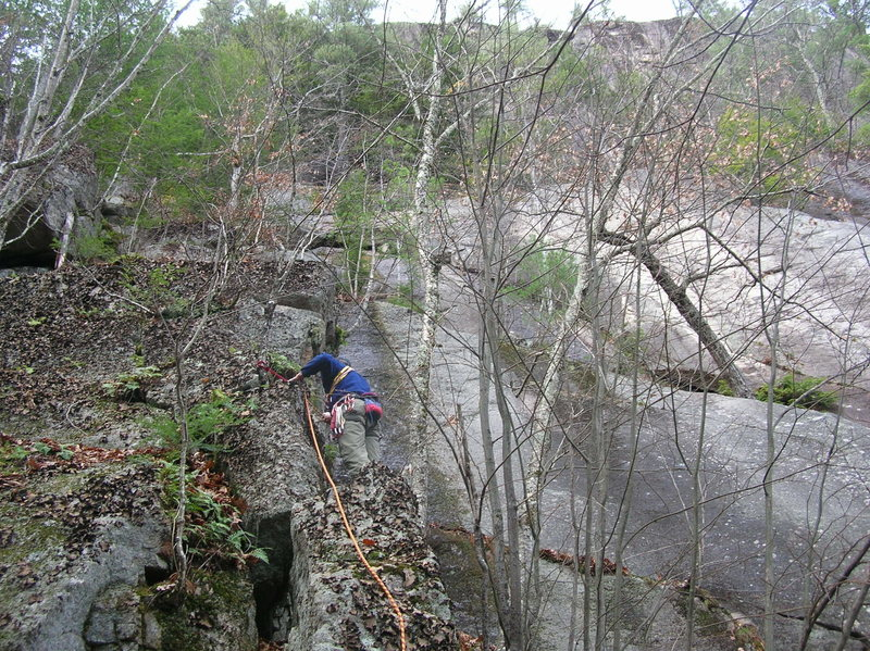 Rock Climbing Photo: Wandering through a sea of lichen.  Joshua Corbett...