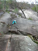 Rock Climbing Photo: Joshua Corbett firing the lower section on lead.