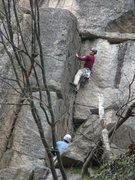 Rock Climbing Photo: Finishing up the initial corner.