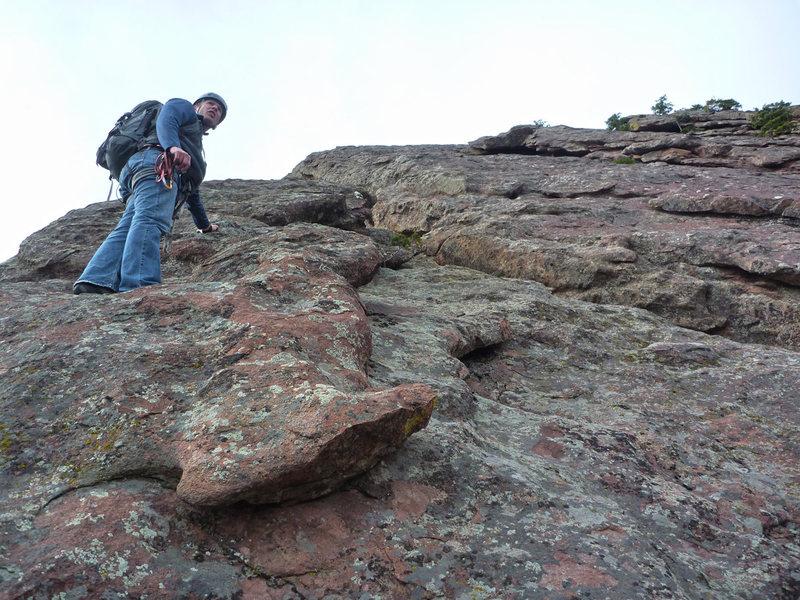 Rock Climbing Photo: East Face Left, Hillbilly Rock.