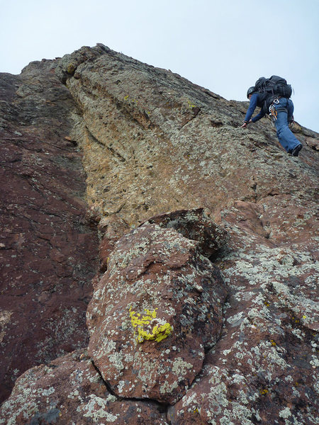 Rock Climbing Photo: Upper part of Hillybilly Rock East Face, South Sid...