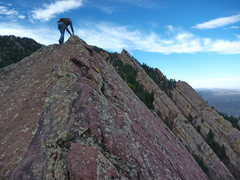 Rock Climbing Photo: Dreadnaught summit.