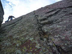 Rock Climbing Photo: Nearing the summit of Dreadnaught.