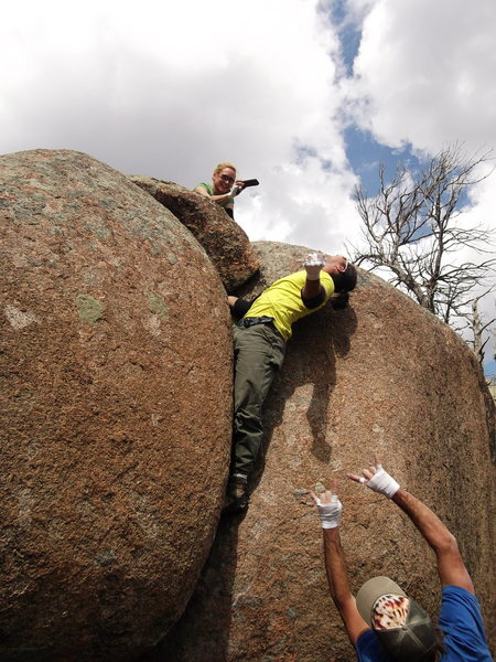 Rock Climbing Photo: Hanging out with Team America!