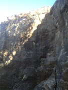 Rock Climbing Photo: Immediatly left of the dihedral or anothr five fee...