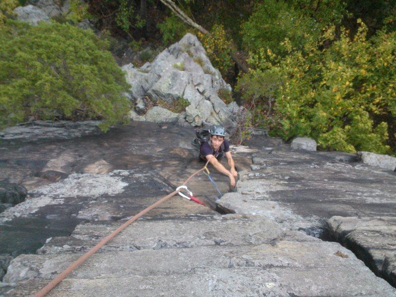 Daniel Montague climbing Yellowjacket