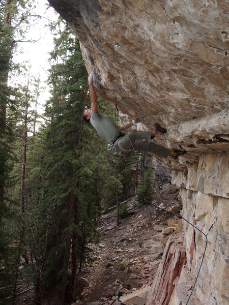 Rock Climbing Photo: Gostola trying to find the g spot