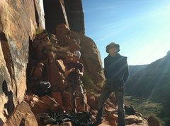 Rock Climbing Photo: Gettin ready for Generic Crack.  First climb at IC...