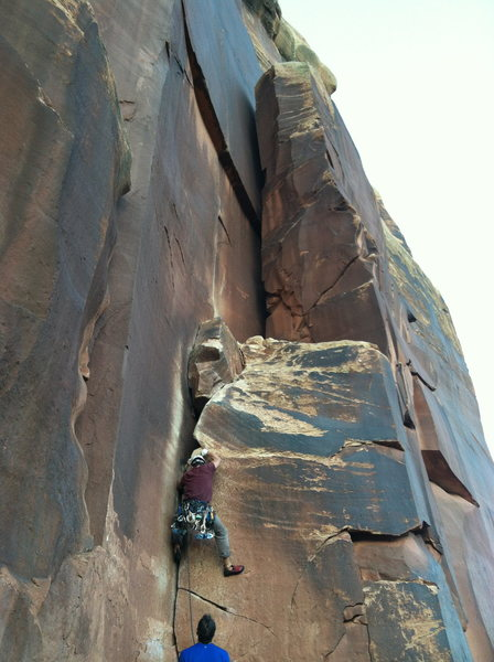 Rock Climbing Photo: Start of Supercrack