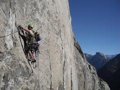 Rock Climbing Photo: High on Mescalito