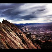 Rock Climbing Photo: Looking down on Boulder from the 3rd.