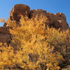 Fall color near Echo Rock.<br> Photo by Blitzo.
