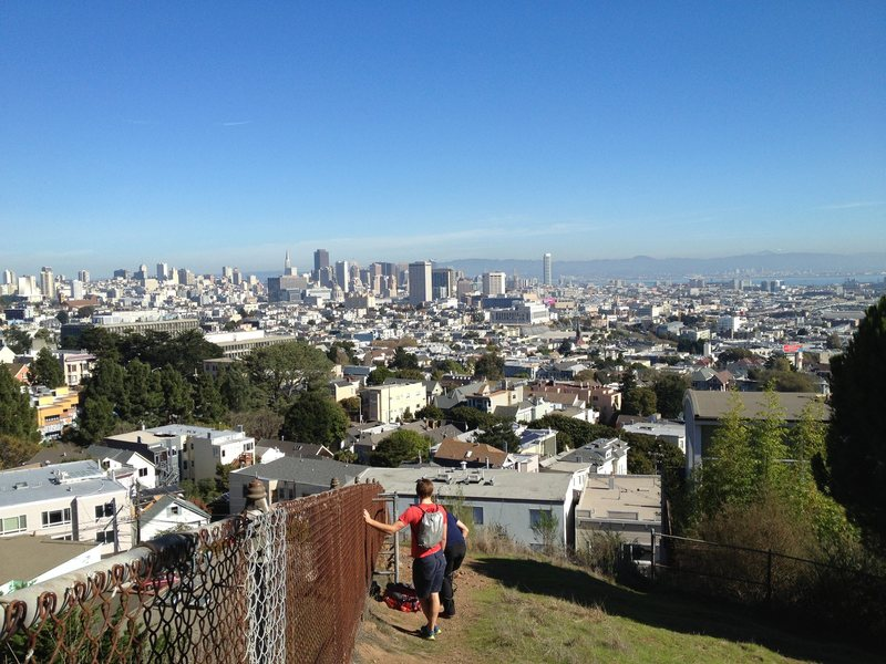 Rock Climbing Photo: Excellent view of the city from the top of Beaver ...