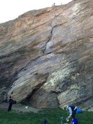 Rock Climbing Photo: Beaver Street Wall face. Preparing to climb up the...