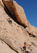 "Rock Climbing Photo: Felicia Terry leading ""Tim's Valentine""...."