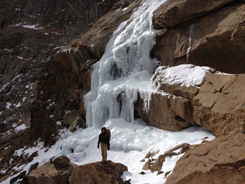 Rock Climbing Photo: Nov. 3, 2012. Meagan Buck in front of the Far Righ...