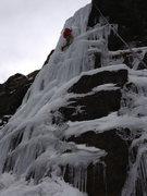 Rock Climbing Photo: Nov. 1, 2012. Meagan Buck near the top of the firs...