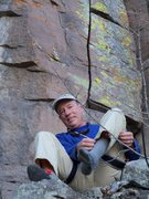 Rock Climbing Photo: John giving his dogs a breather